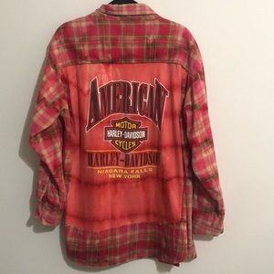 One of a kind Harley Davidson Flannel